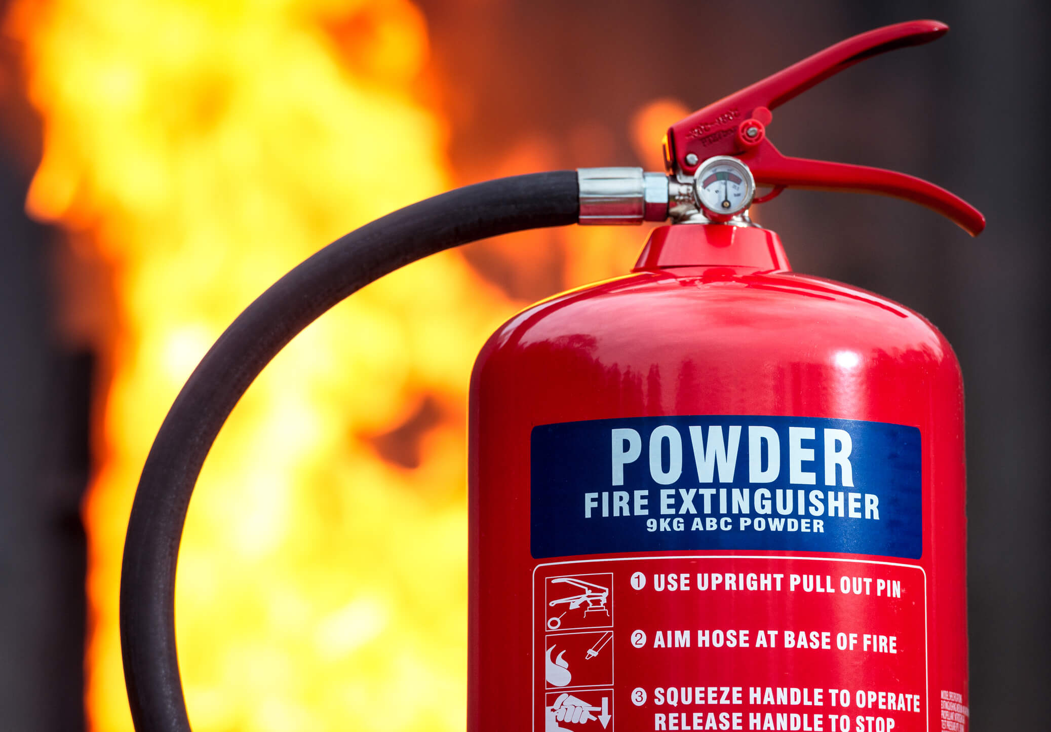 How to Use a Dry Powder Fire Extinguisher